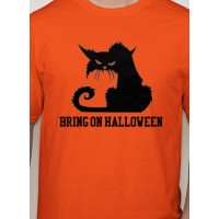 Bring on Halloween Black Cat T-Shirt