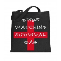 Binge Watching Canvas Tote
