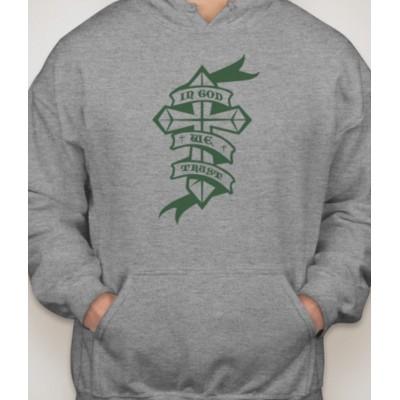 In God We Trust Cross Hooded Sweatshirt