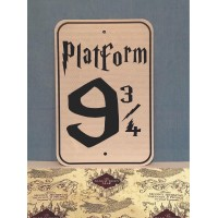 Platform 9 3/4 Metal Sign  (MADE IN USA)