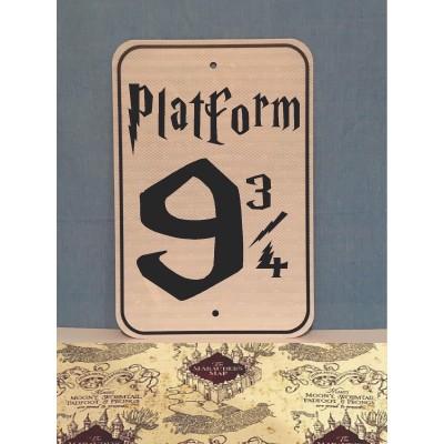 Platform 9 3/4 Metal Sign  (MADE IN USA)